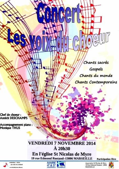 Affiche Concert St Nicolas de Myre