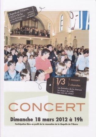 Affiche concert OJJA du 18.03.2012